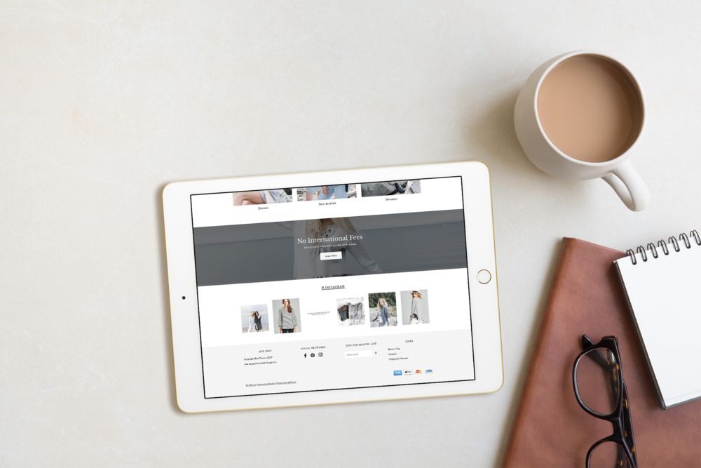 Riot Theory Shopify Website shown on an ipad designed by Salt Design Co.