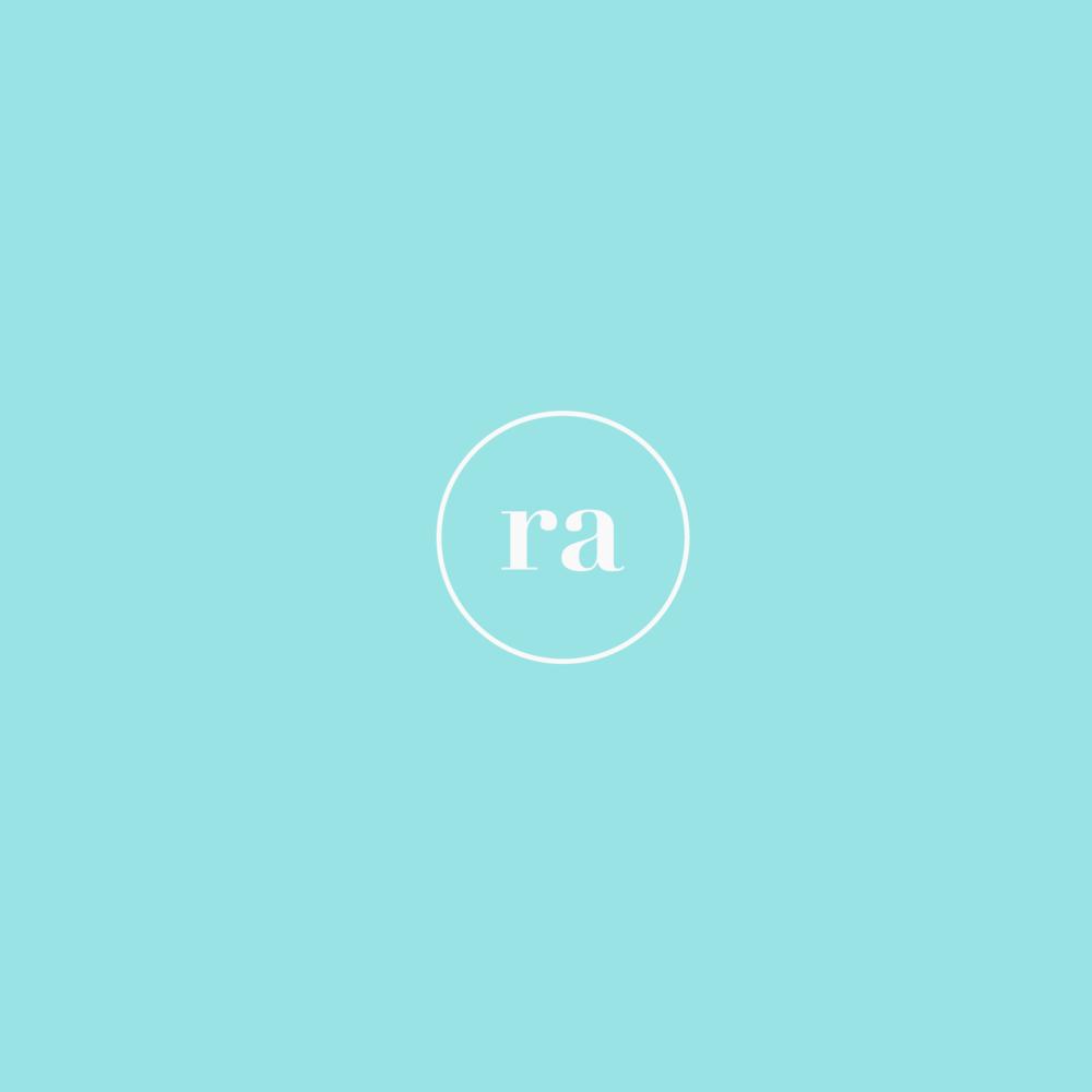 Recreative Apparel monogram in bright blue