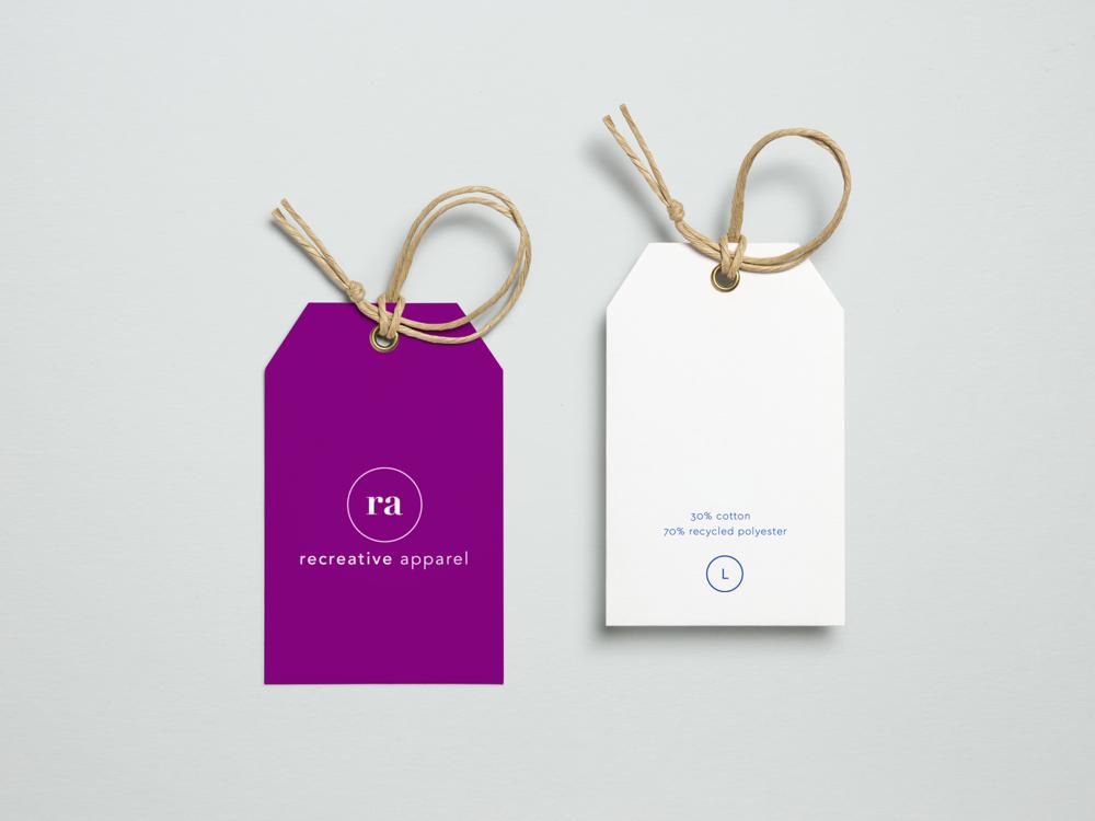 Recreative Apparel tags