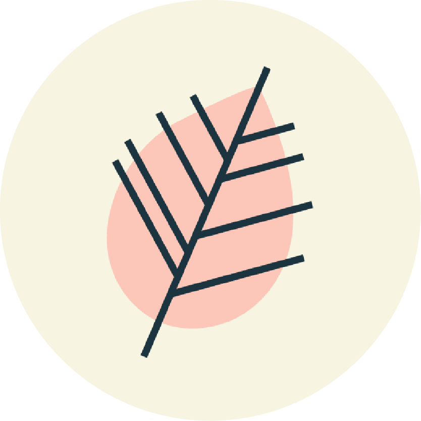 Givalry leaf icon social badge