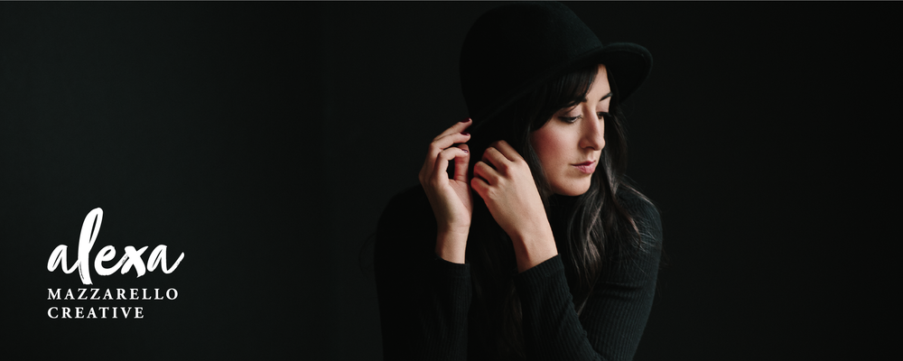 Alexa Mazzarello Creative Header photo with logo positioned in the bottom right hand corner.