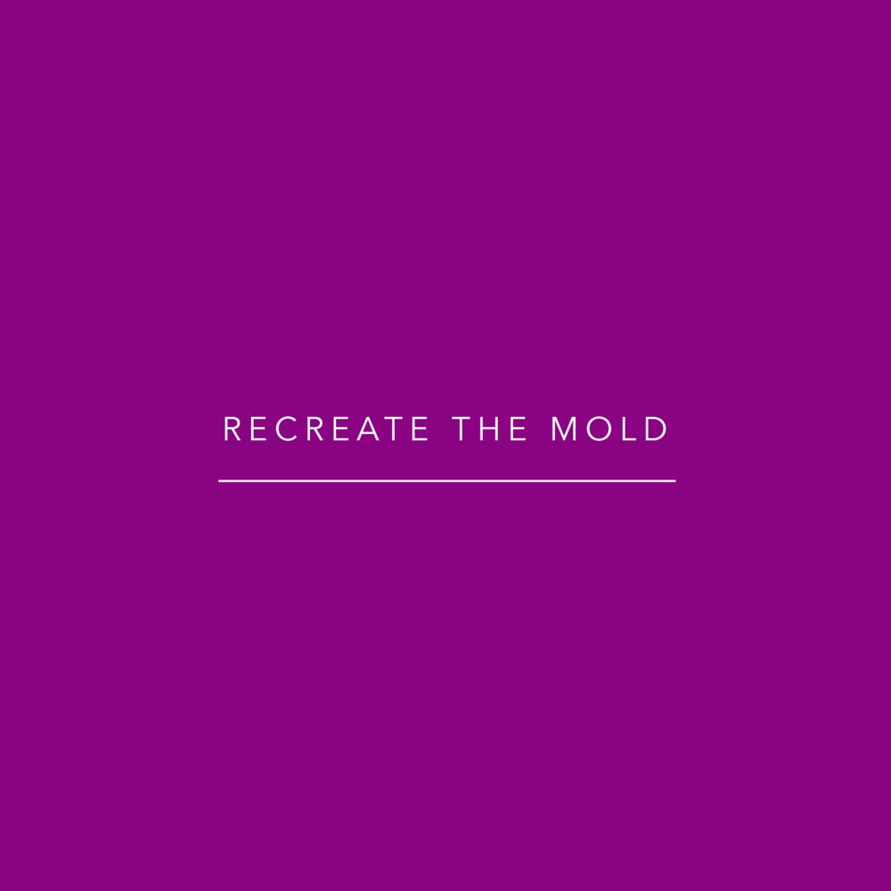 'Recreate the Mold' - tagline of Recreative Apparel on a purple background.