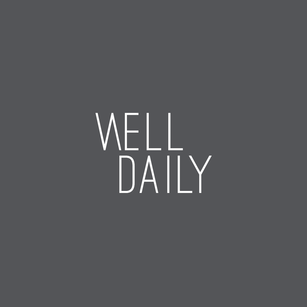 Well Daily logo on a charcoal background designed by Salt Design Co.