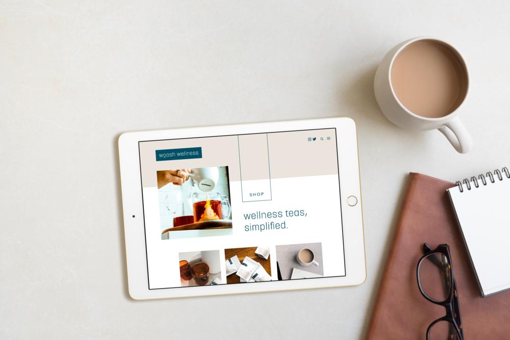 Woash Website mockup design by Salt Design Co. as part of the brand identity design process