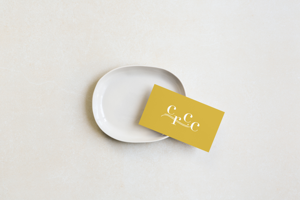 Campbell River Children's Choir business cards in yellow