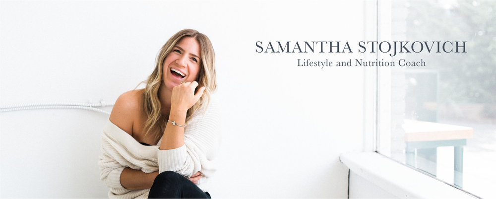 Photo of Samantha Stojkovich laughing in a white room