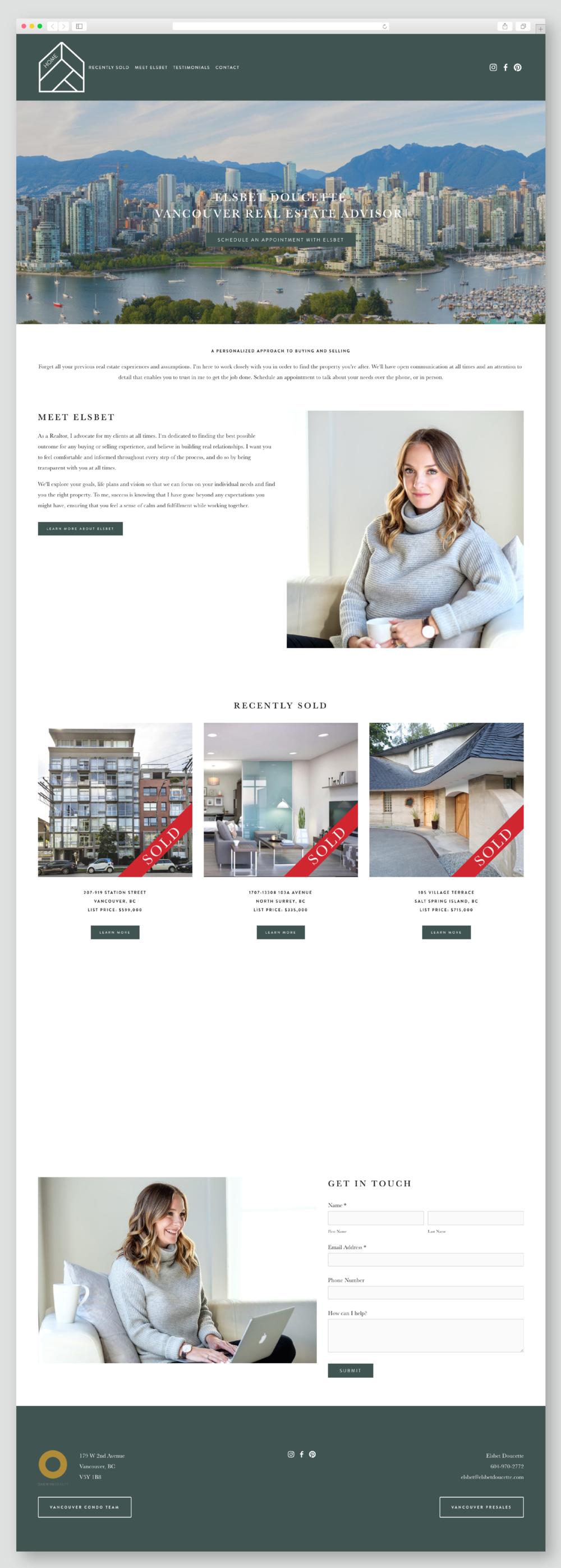 Elsbet Doucette Realty's Squarespace website training