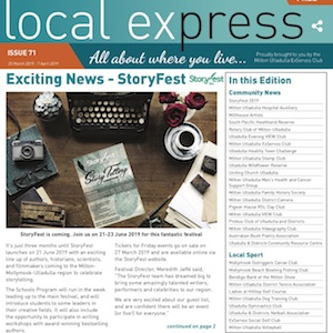 Bestselling Authors at StoryFest - Local Express - March 2019Read on . . .