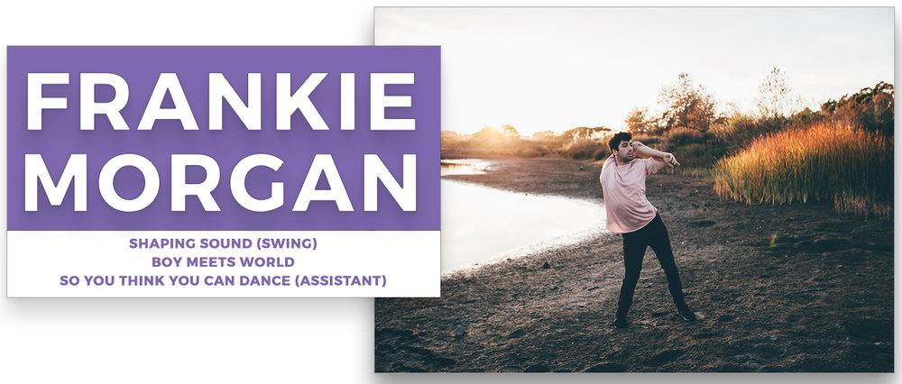 Frankie Morgan | Stage Door Workshops | In-Studio Workshops, NYC LA Dance Trips, Broadway Dance Master Classes, Choreography, Intensives | Broadway, So You Think You Can Dance, Hamilton, Wicked, Aladdin, World of Dance, Beyonce, Alvin Ailey, Shaping Sound
