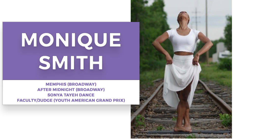 monique smith | Stage Door Workshops | In-Studio Workshops, NYC LA Dance Trips, Broadway Dance Master Classes, Choreography, Intensives | Broadway, So You Think You Can Dance, Hamilton, Wicked, Aladdin, World of Dance, Beyonce, Alvin Ailey, Shaping Sound