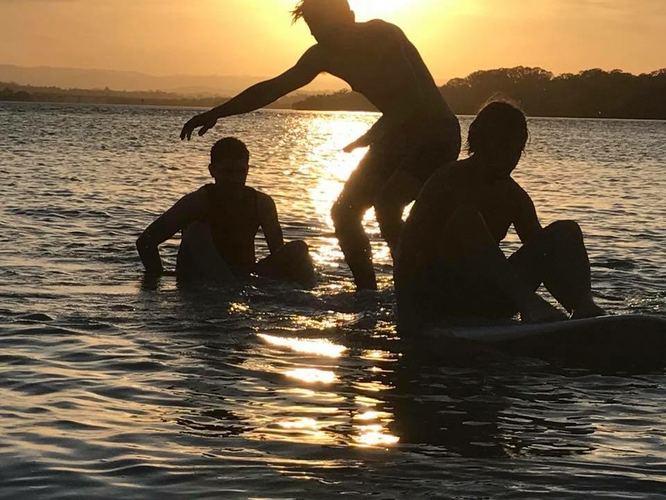 Boys Having Fun on Mujimba Beach, December 2017