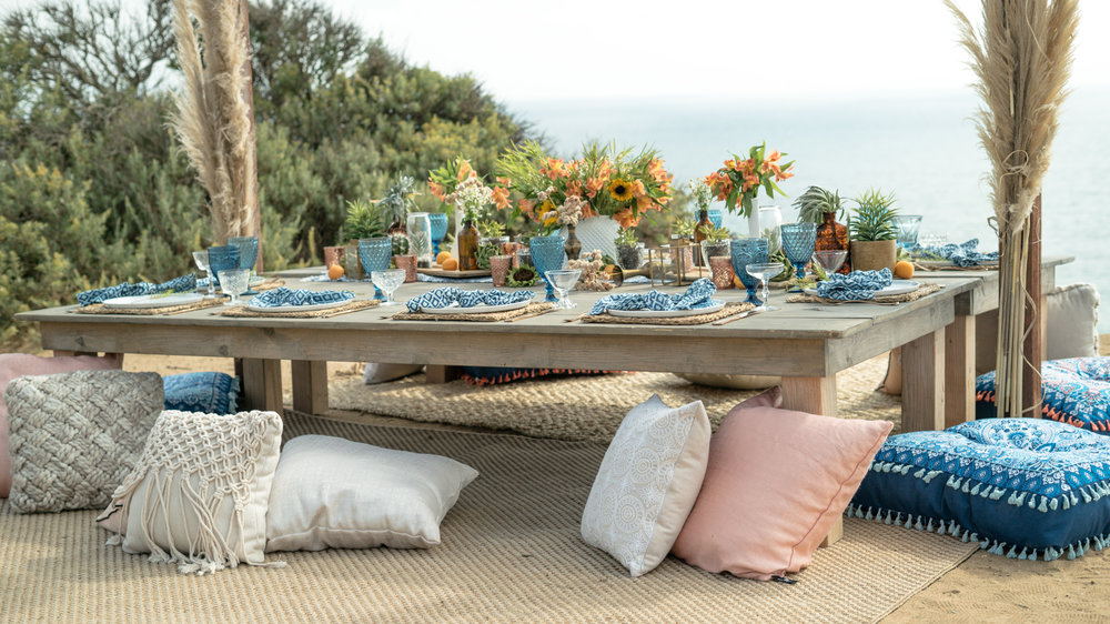 boho chic moroccan beach party inspiration