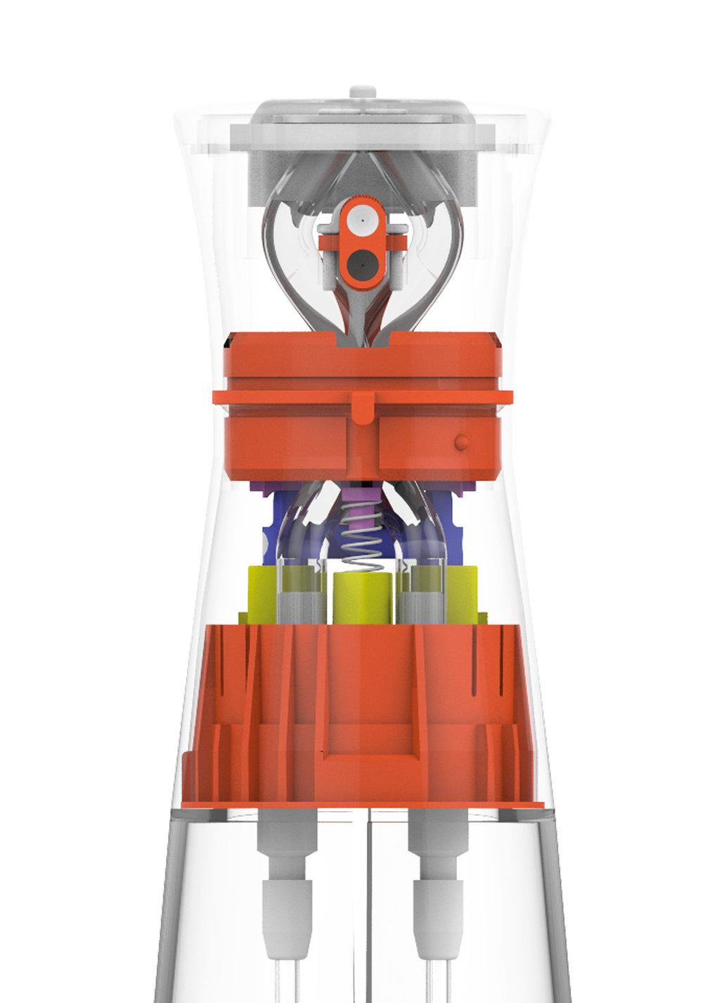 IngéniÈrie hors pair - Simple d'utilisation, le Spray 2.0 n'en est pas pour autant un produit simple à developper. L'espace dédié et la construction de la partie mécanique ont été optimisés au maximum. Preuve en est…• Red Dot Design Award 2017• European Design Award 2018