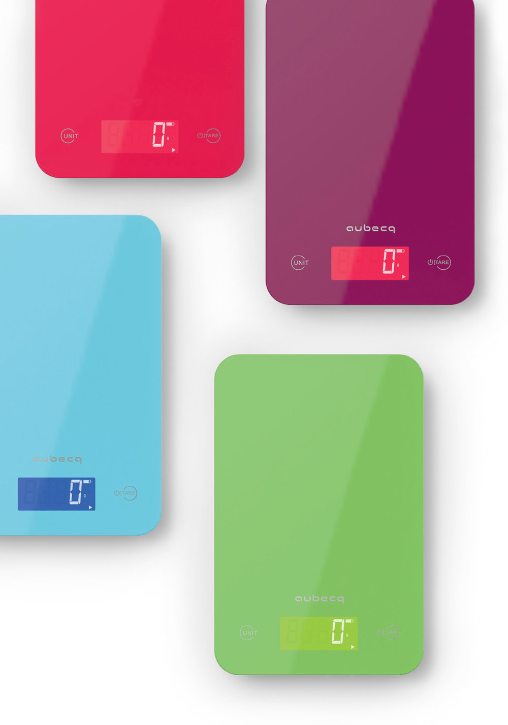 balances colors - • Pesée maximale 5 Kg• Précision 1 g• Aquatronique• Tare• Niveau de batterie• Piles incluses001007 Bleue 001008 Aubergine001009 Verte001010 Rouge