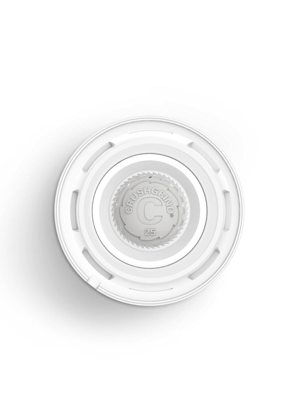 MéCANISME GARANTI 25 ANS - Tournez dans le sens des aiguilles d'une montre pour obtenir une mouture fine et dans le sens contraire des aiguilles d'une montre pour de plus gros grains.