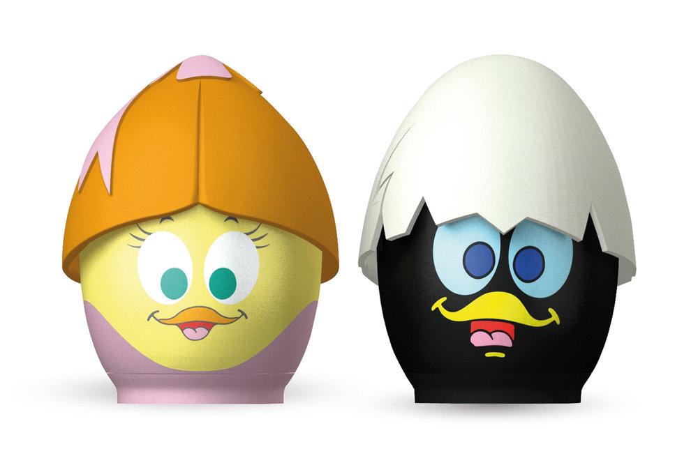 CUIT-Œuf Calimero & Priscilla - Pour préparer vos œufs au micro-ondes, que vous les désiriez coques, mollets ou durs, avec l'œuf micro-ondes Calimero & Priscilla tout est possible...500229 CALIMERO + PRISCILLA