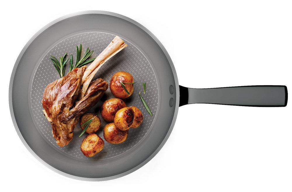 AUTOGRAPH 2 + GOLF BALL - Aubecq est l'une des deux marques qui possèdent la licence Autograph2. Revêtement de catégorie supérieure en terme de performance et durabilité. Pour Protocole, nous avons créé une couleur spéciale : gris argenté.• Une durabilité sans pareille• Les aliments ne collent pas • Une sécurité alimentaire plus importante que les revêtements de même catégorie + GOLF BALL Aubecq a conçu et développé cette technologie permettant aux graisses de mieux s'écouler pendant la cuisson et donc de cuisiner moins gras.