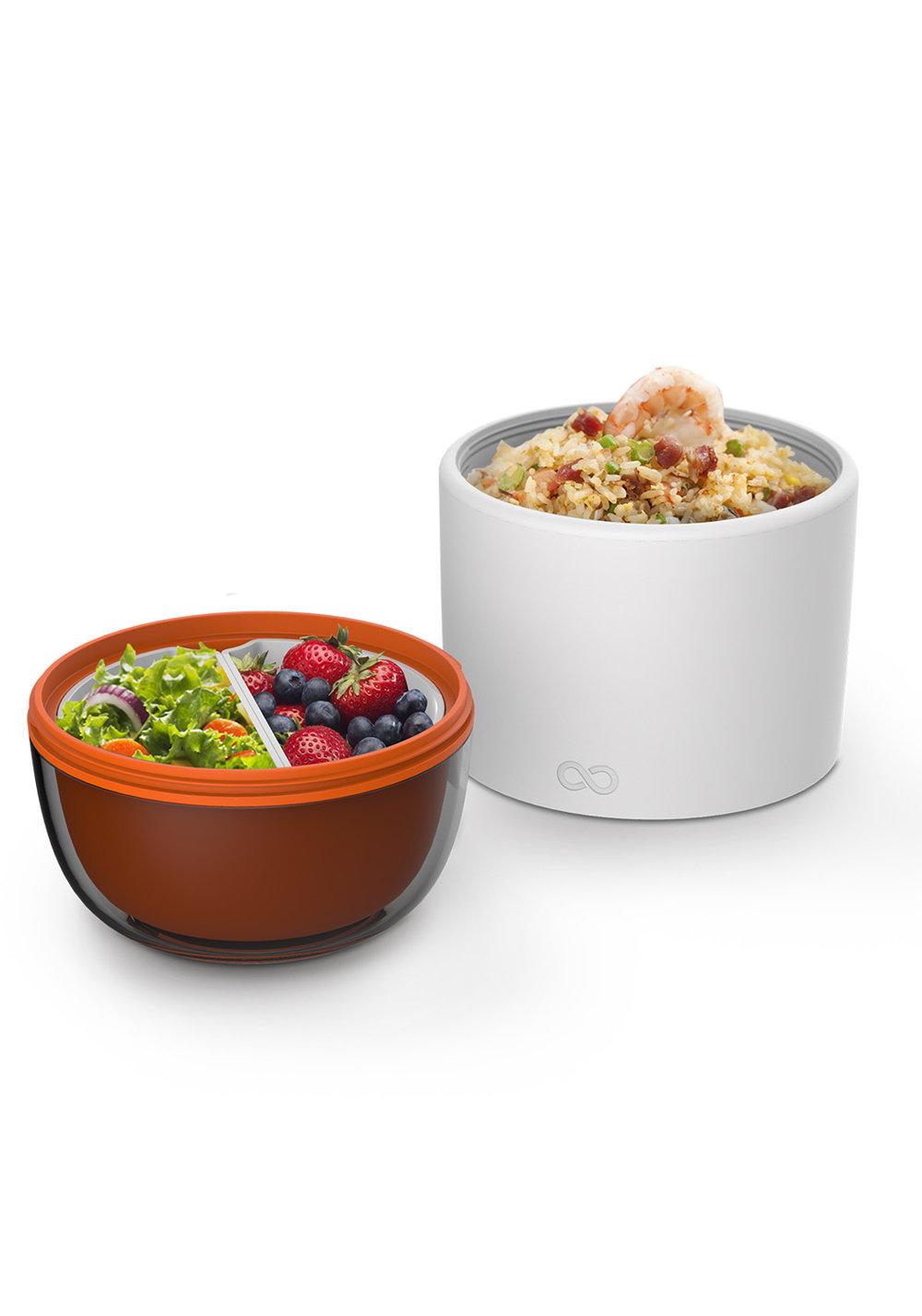 idéal pour (enfin) déjeuner équilibré - Idéal pour portionner ses déjeuners et éviter le coup de pompe de 15 heures !