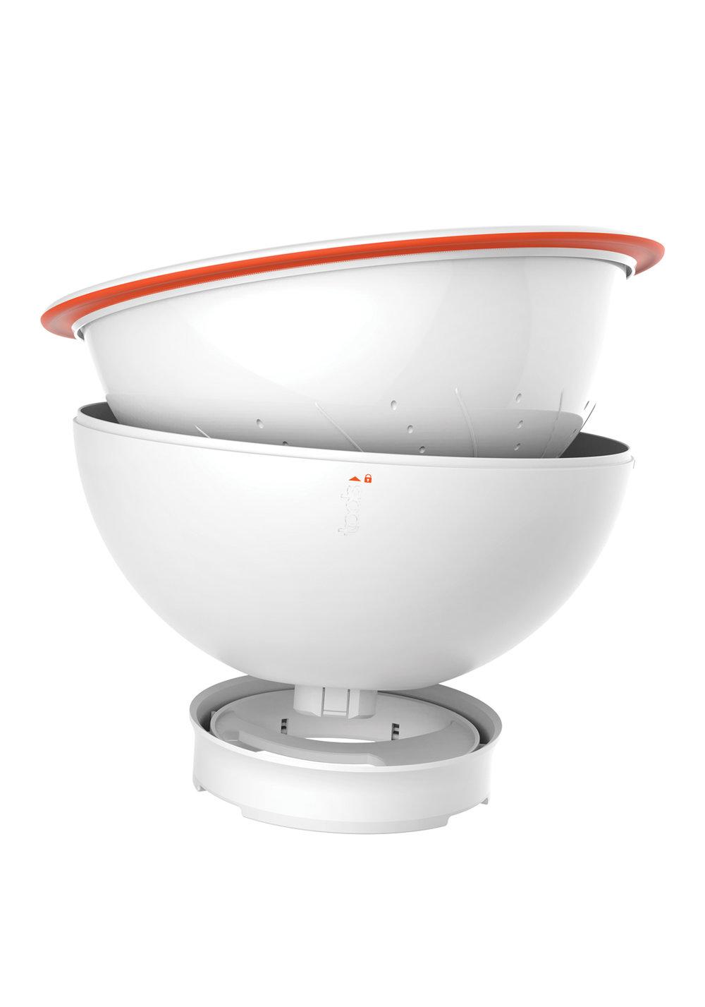 EntretieNfacile - Totalement démontable, chaque partie du STRAINER BOWL passe au lave-vaisselle.500295 STRAINER BOWL