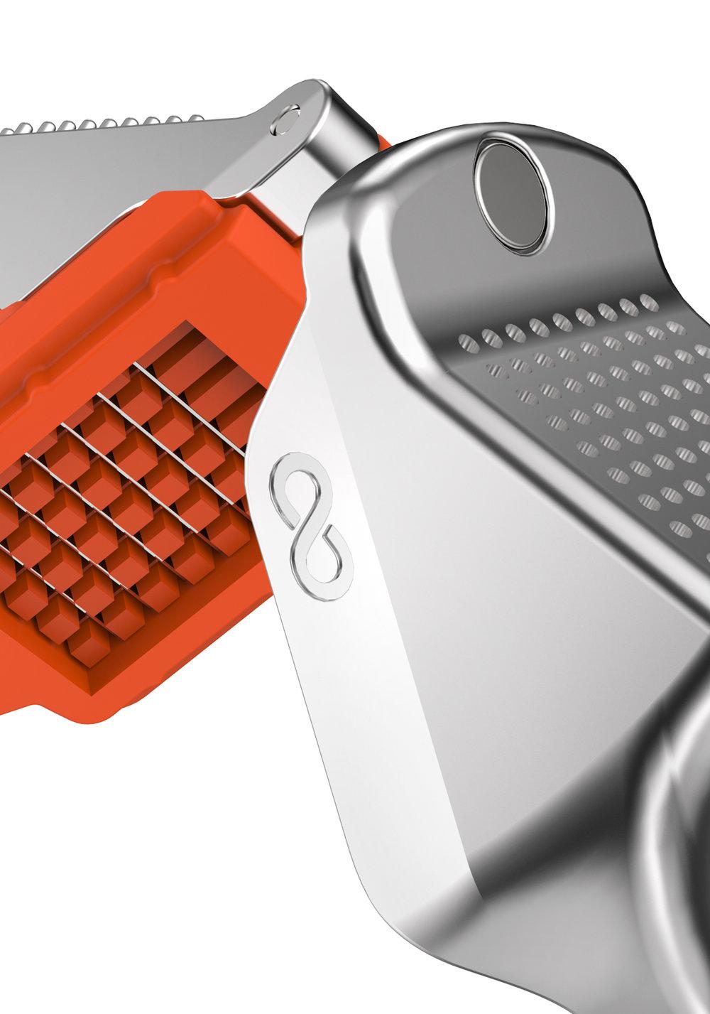 matériaux de qualité - Des matériaux haut de gamme comme le zinc alloy et l'ABS ont été utilisés afin de vous garantir une longévité du produit. La finition chrome plating confère à l'ustensile une finition parfaite.