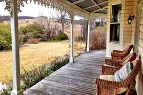 Coningdale B&B — rural views from the verandah