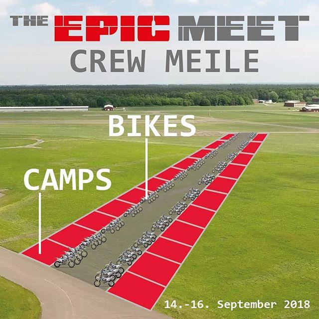 Wir wollen euch als CREW 🚨. Ihr seid mehr als 5 Leute ? Habt Lust euch mit anderen Crews auszutauschen ? Eure Bikes vor dem Camp zu präsentieren ? 😎 Sichert euch den Platz auf der CREW MEILE 🔥. Einfach eine Mail an info@theepicmeet.com mit CREW Namen und euren Mitgliedern und wir sichern euch einen Platz ! Somit könnt ihr auch bei getrennter Anreise zusammen campen 💪. #theepicmeet #Community #Meet #Passion #Bikelife #Camp #Supermoto #Enduro #Stuntriding