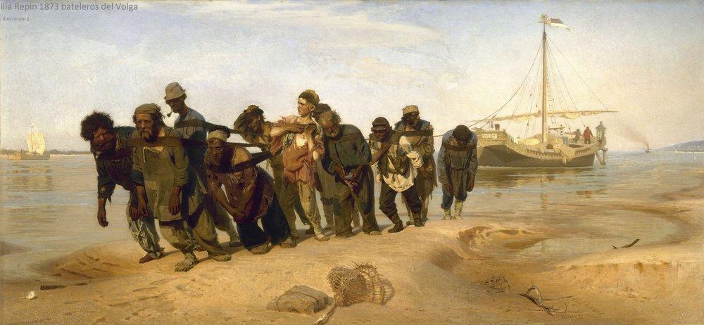 Los Sirgadores. De Iliá Repin 1873. (Ilustración nº 1)