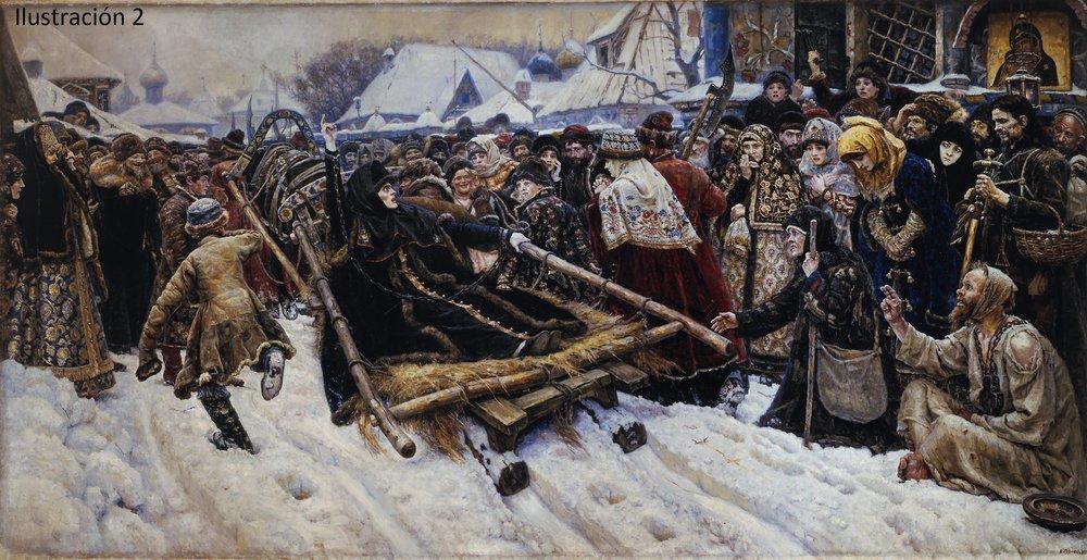 Vasili Surikov.- La Boyarda Teodosia Morosova. 1887. (Ilustración nº 2)