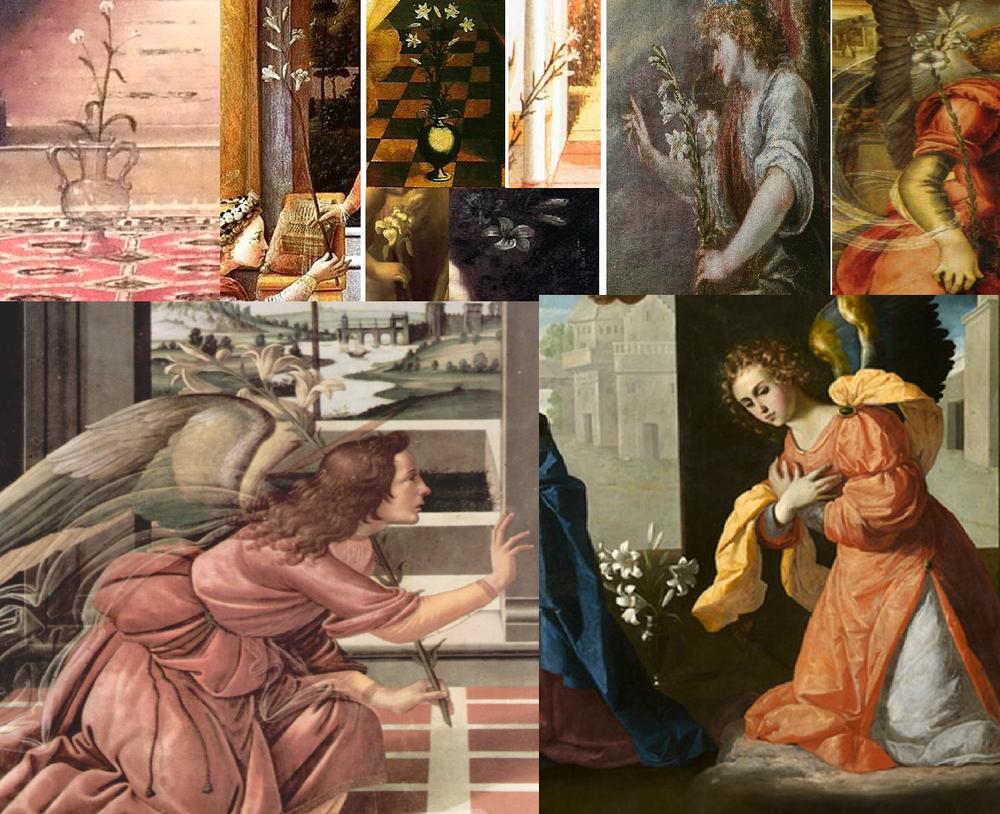 Detalle de lirios en varios artistas