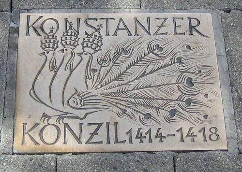 Placa conmemorativa sobre el Concilio de Constanza