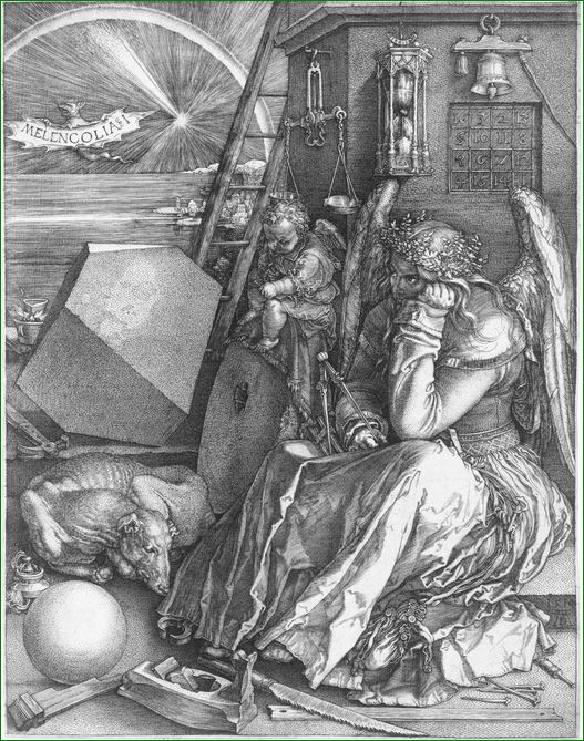 """""""La Melancolía"""".  Albrecht Durero (1471-1528)"""