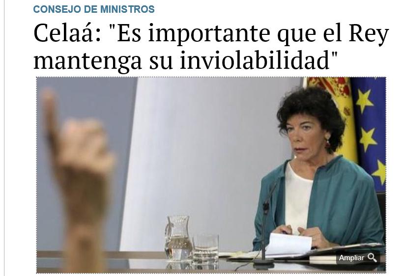 La portavoz del gobierno de los  psoerreaccionarios.