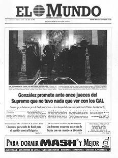 El Presidente del Gobierno comparece en el Supremo; 23 de Junio de 1998.