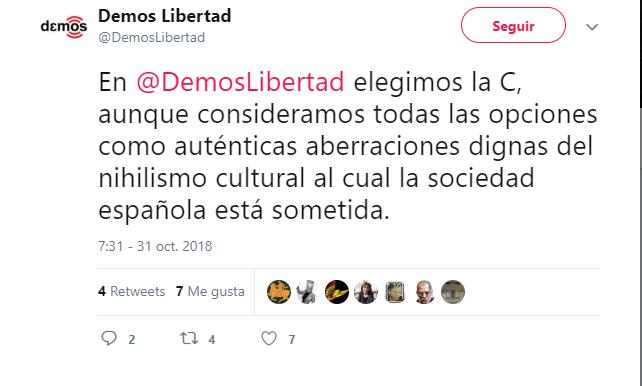 https://twitter.com/DemosLibertad/status/1057641158577414144