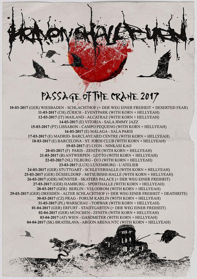 Cartel de la gira de 2017, con el título de la canción
