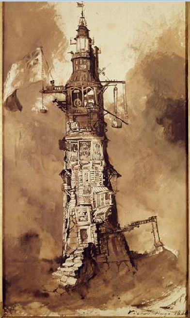 """""""El Faro de Eddystone"""" (1866) Victor Hugo."""