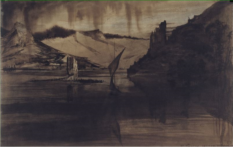 """""""La Tour des Rats""""  (1840) Victor Hugo."""