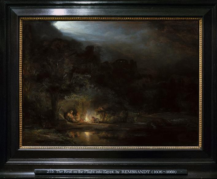 Descanso en la huída a Egipto. Rembrandt Van Rij (1647). National Gallery of Ireland. Dublin.