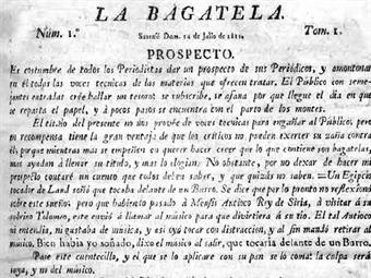 Ejemplar de  La Bagatela .