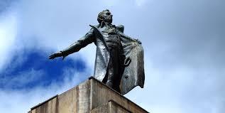 Estatua de A. Nariño en Bogotá.