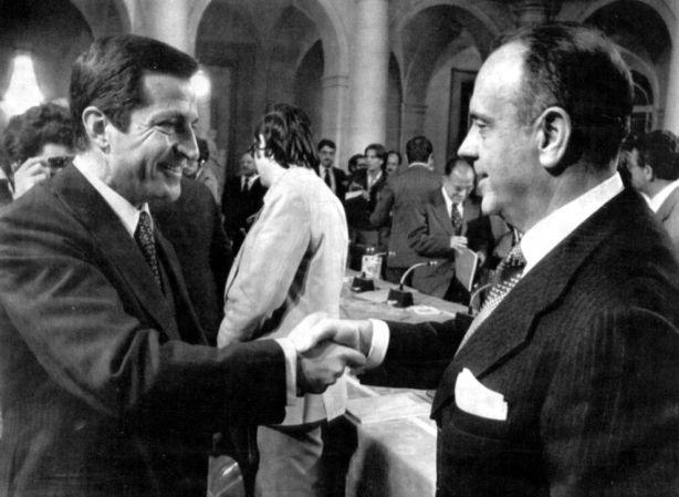 Adolfo Suárez y Manuel Fraga.