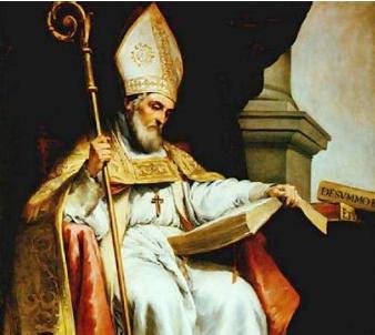 San Isidoro de Sevilla (Cartagena,556-Sevilla,636)    Doctor Universal de la Iglesia - Autor: Murillo
