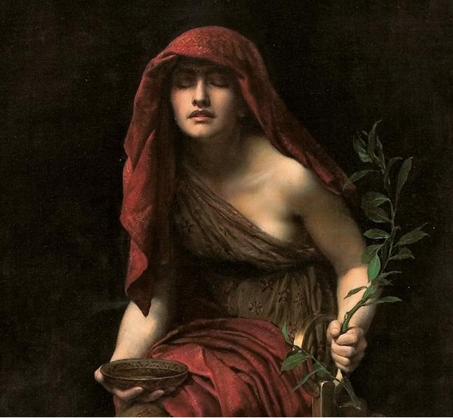 La pitia de Delfos. John Collier (1891). Art Gallery of South. Australia.