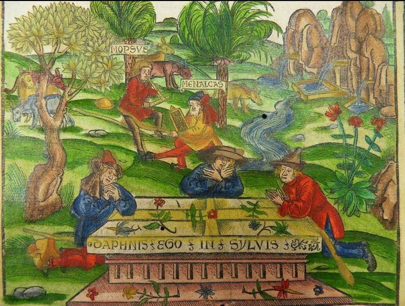 Virgilio Eclog COL. INCUNABLE Gruninger Brant ESTRASBURGO 1502