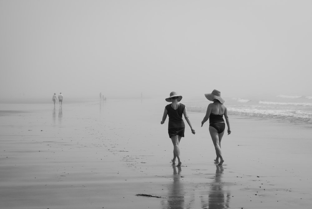 this was taken as heavy fog blanketed the beach, creating such a wonderful atmosphere and adding strength to the simple composition