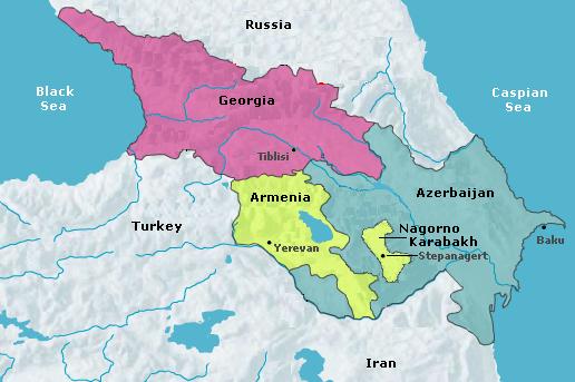 Map of Armenia & Artsakh