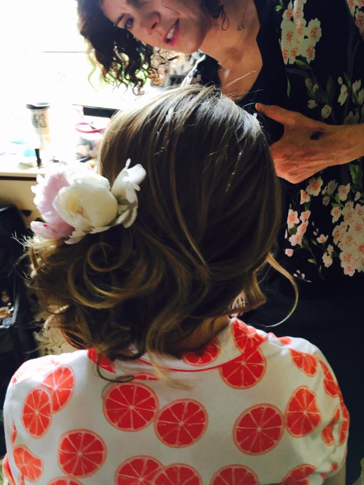 Beautiful Up-do's with Floral Design