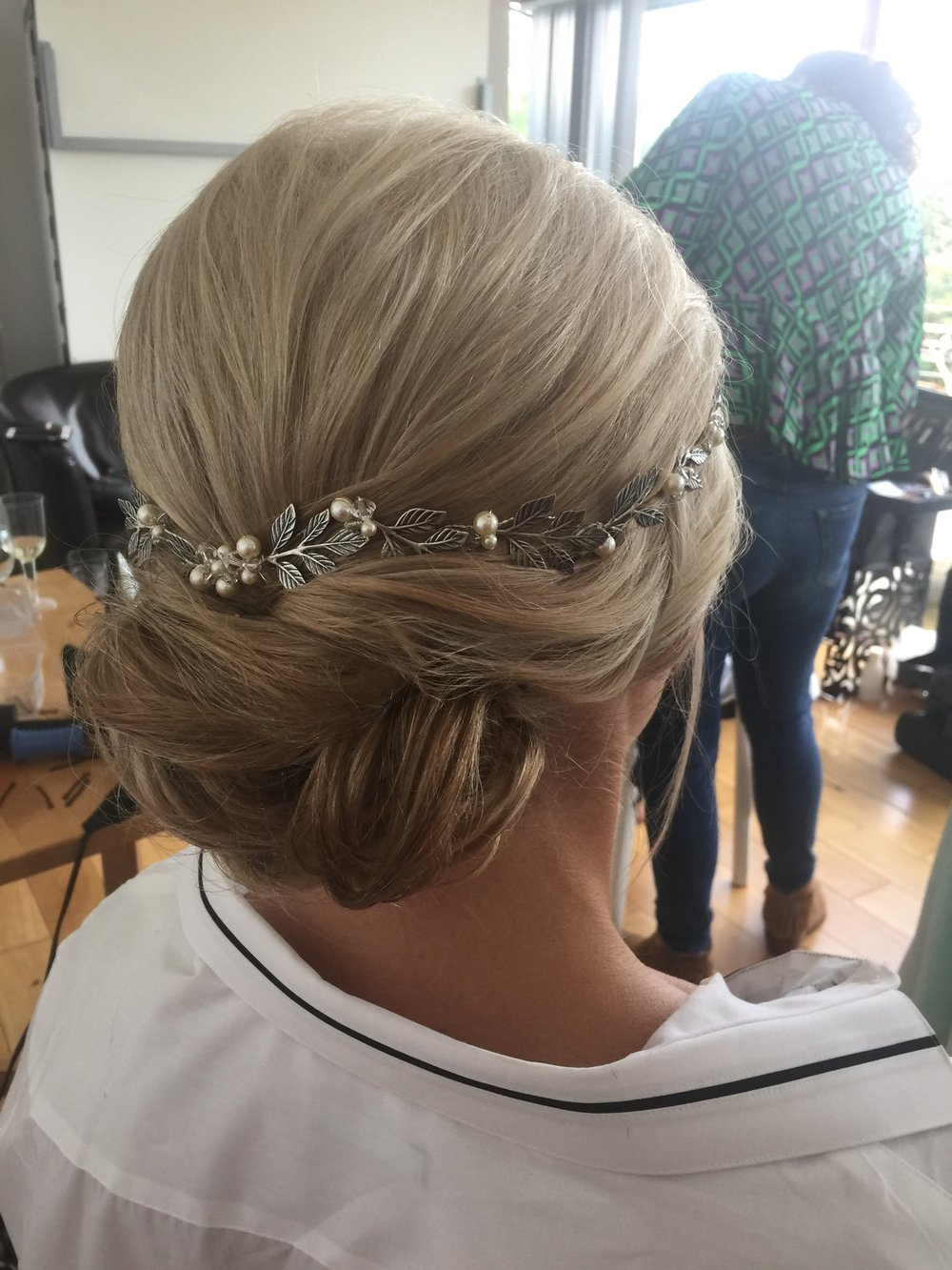 Gorgeous hair up looks even better with the added hair vine