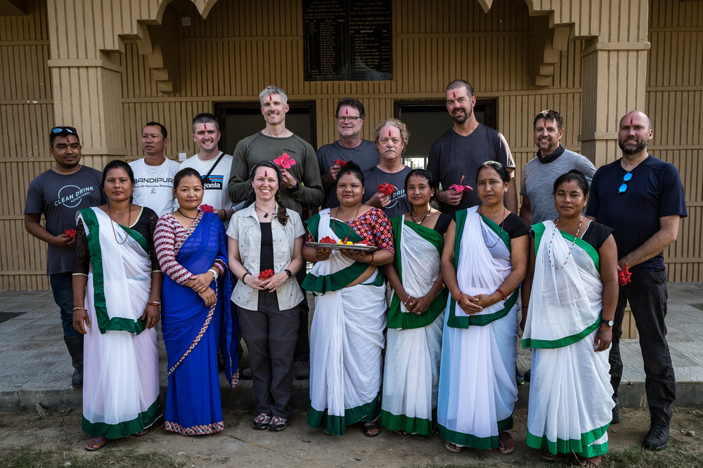 It's always nice to be greeted by the locals in the Terai region of Nepal. The Tharu culture is vibrant and welcoming.