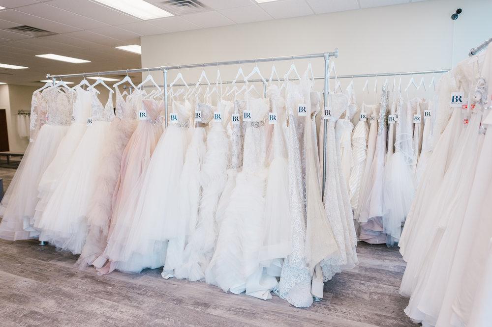 Fight for the Wedding Dresses On Racks